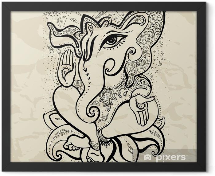 Ganesha Hand drawn illustration. Framed Poster - Signs and Symbols