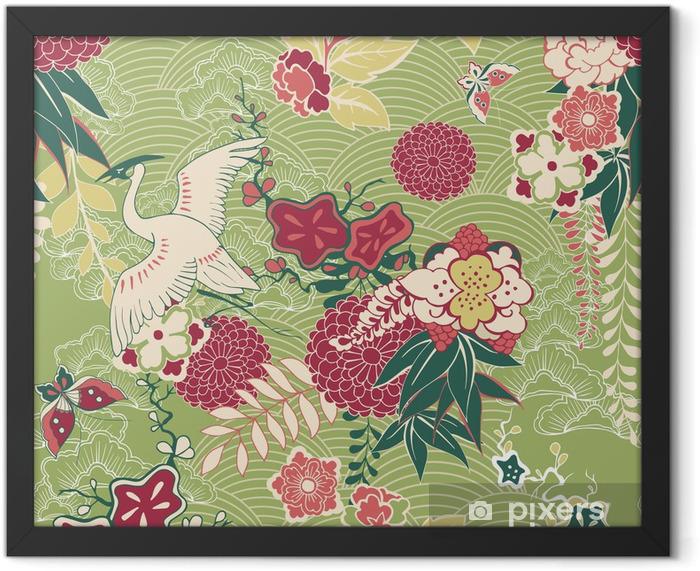 Oriental silk pattern Framed Poster - Styles