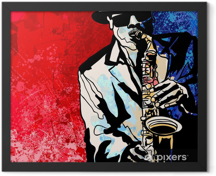 Saxophone player Framed Poster - Jazz