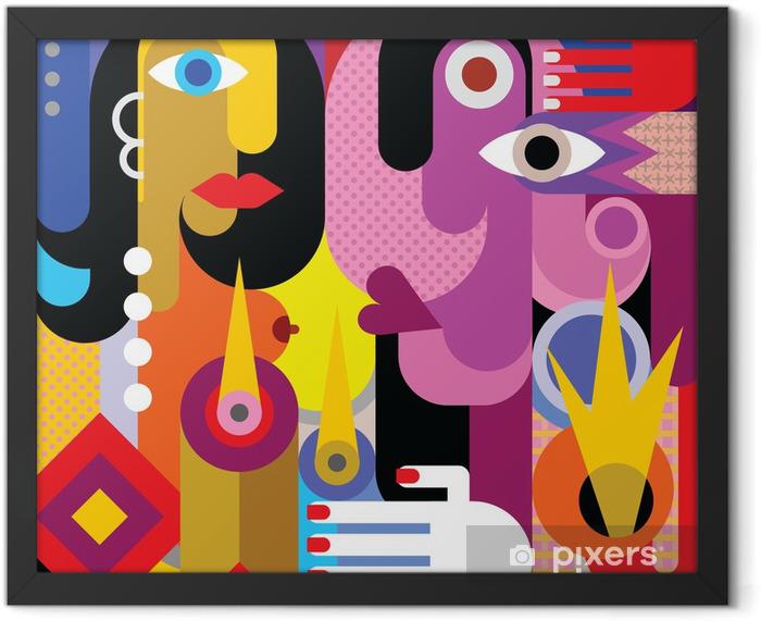 Poster en cadre Man and woman - Thèmes