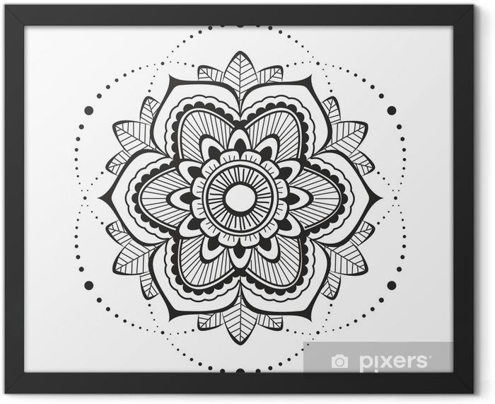 Mandala mehendi Framed Poster - Wall decals