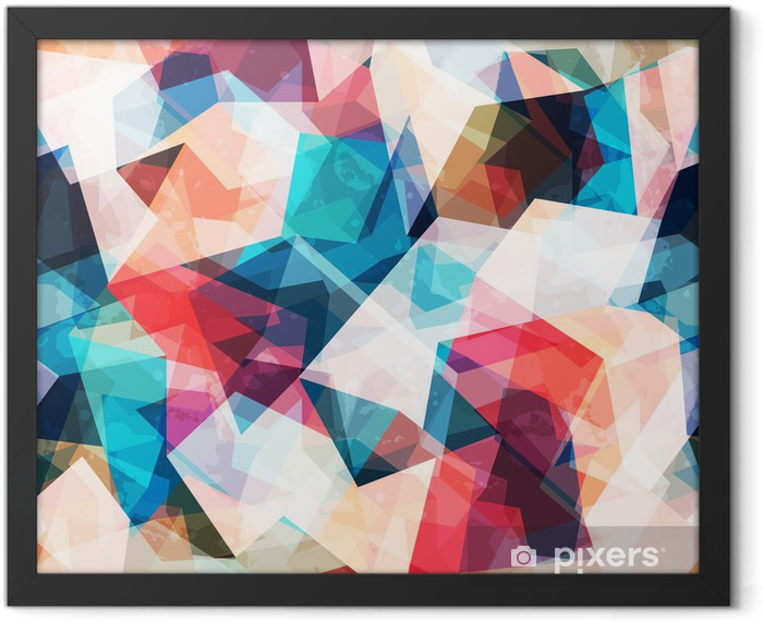 colored mosaic seamless pattern with grunge effect Framed Poster - Styles