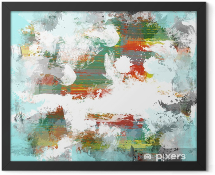 Color paint background Framed Poster - Themes