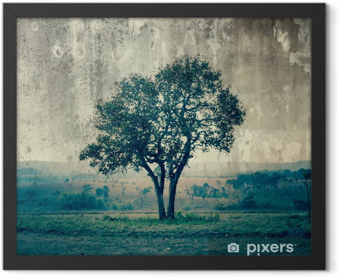 A single tree represent loneliness and sadness Framed Poster - Styles