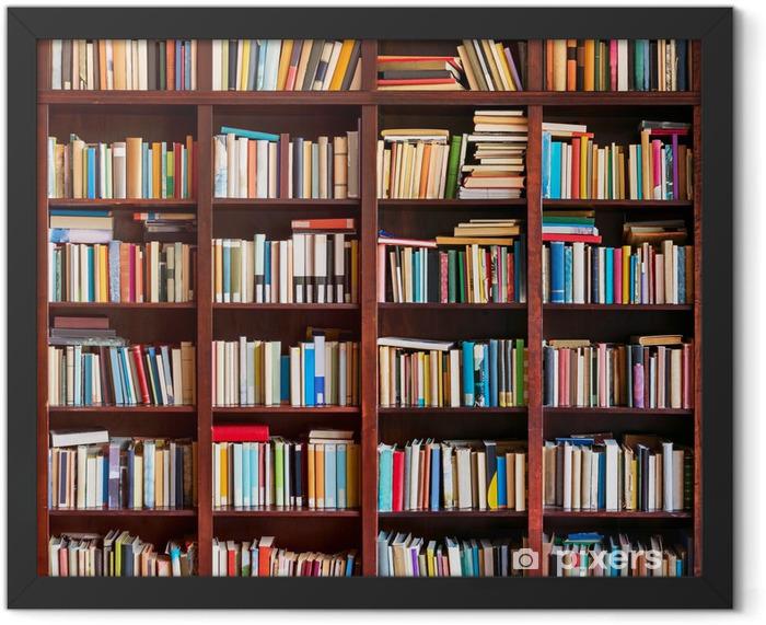 Plakat w ramie Regał pełen książek - Biblioteczka