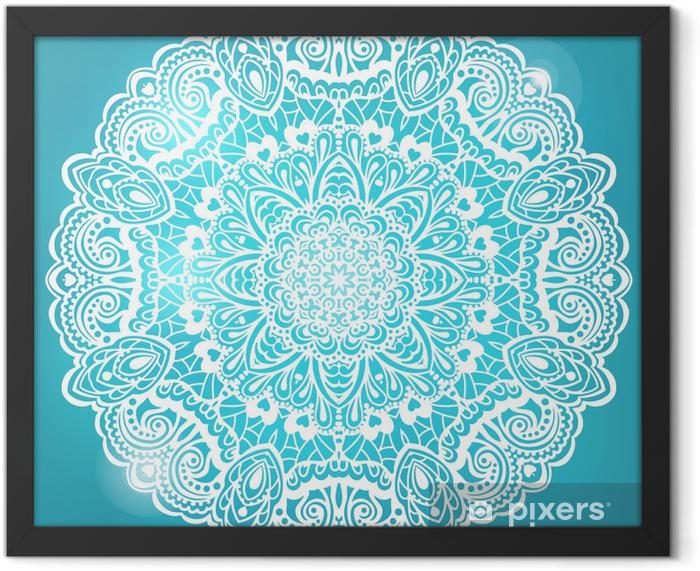 Ingelijste Poster Abstracte Mandala. Element voor ontwerp - Stijlen