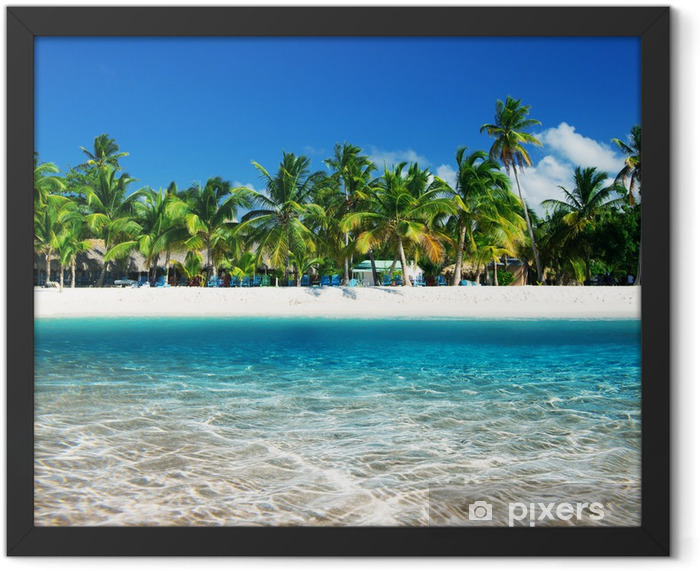 tropical beach Framed Poster - iStaging