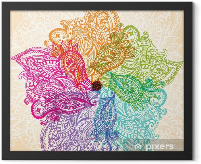 Mandala symbol Framed Poster - Themes