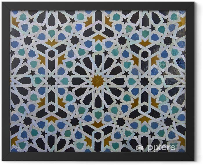 Moroccan Zellige Tile Pattern Framed Poster - Tiles