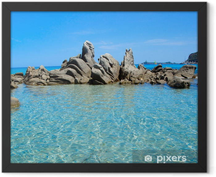 Sardinia sea Framed Poster - Themes