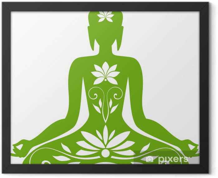 Sitting Buddha Framed Poster - Wall decals