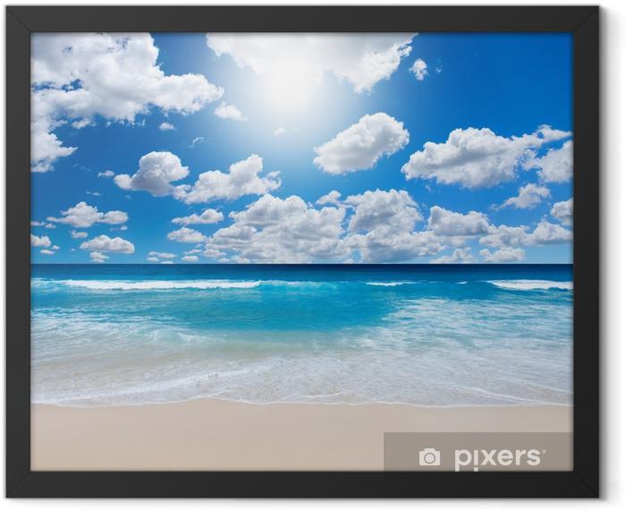Plakat w ramie Wspaniały krajobraz plaża - Morze i ocean
