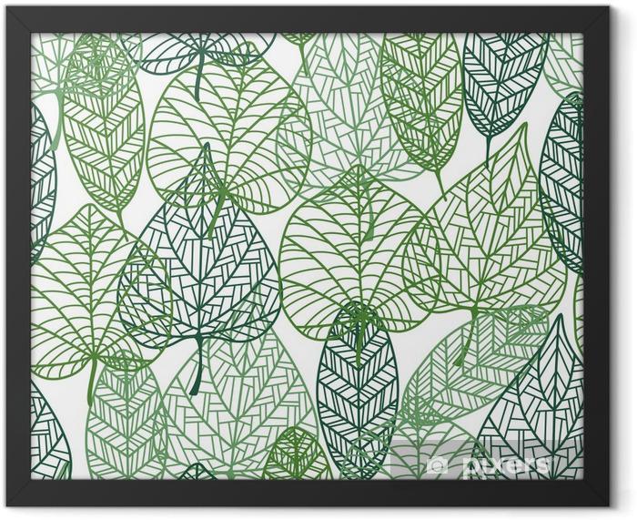 Green leaves seamless pattern Framed Poster - Styles
