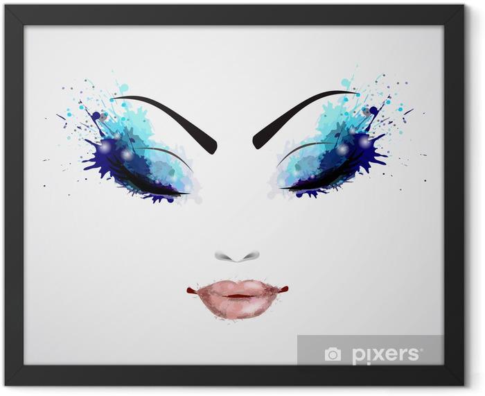 Female face Framed Poster - Themes