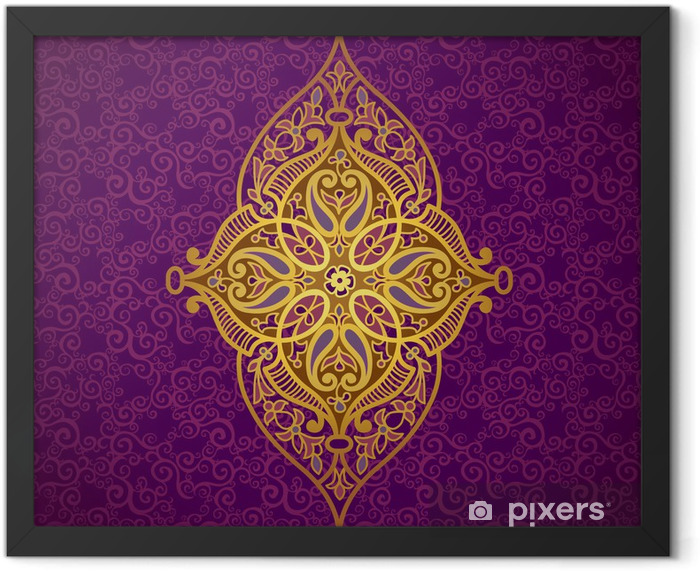 Vector pattern in Eastern style. Framed Poster - Backgrounds