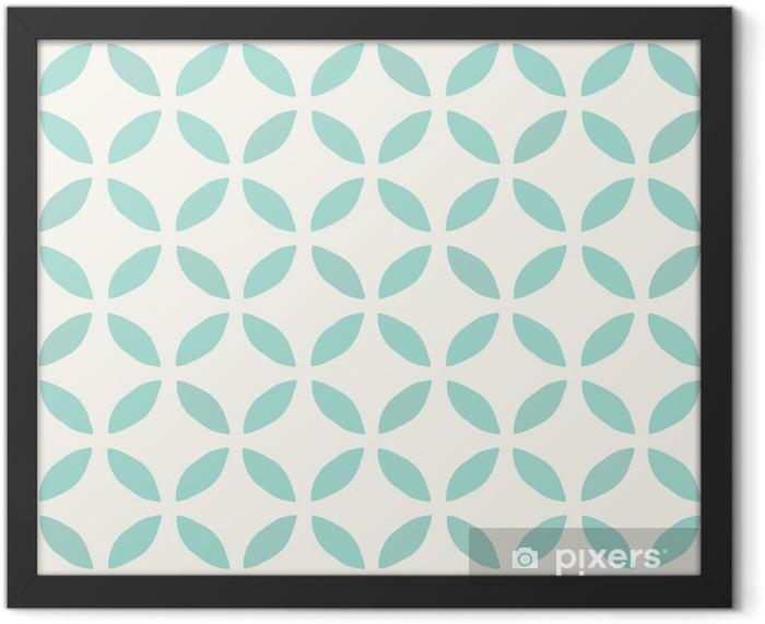 Seamless Pattern. Hand Drawn. Flower. Background design Framed Poster - Styles