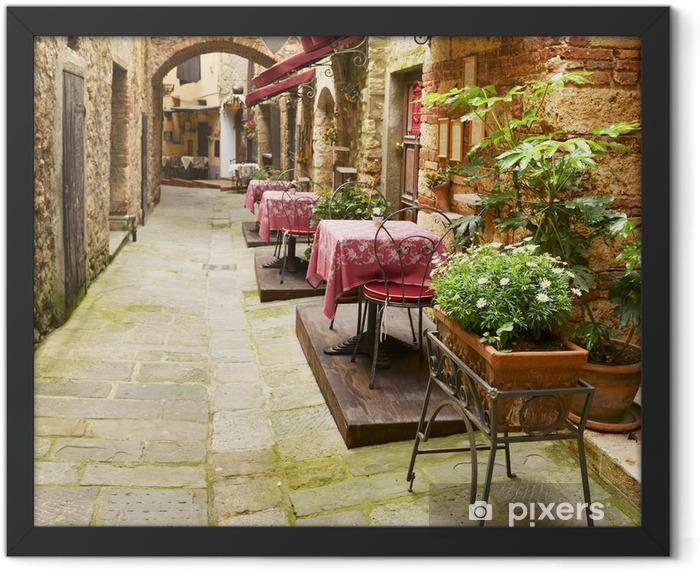 Plakat w ramie Restauracja w Toskanii - Posiłki