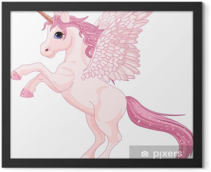 Unicorn Pegasus Framed Poster - Animals