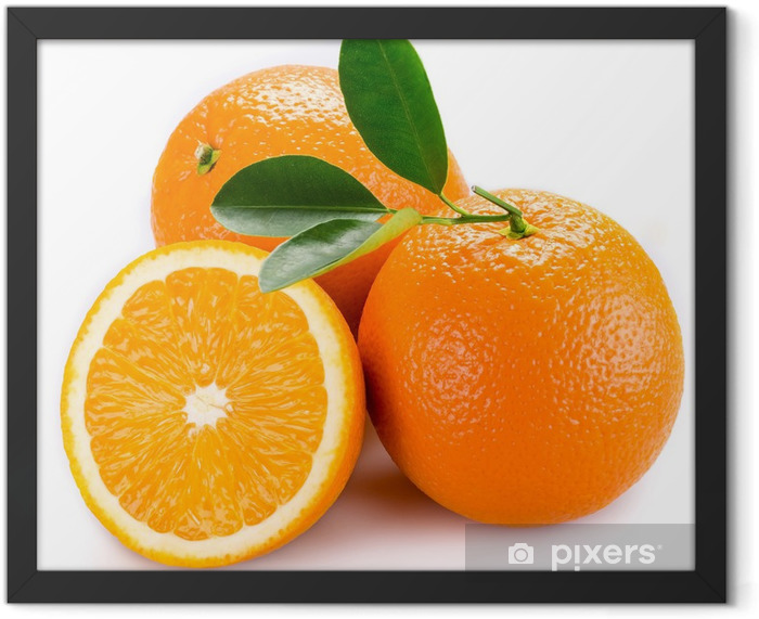orange Framed Poster -