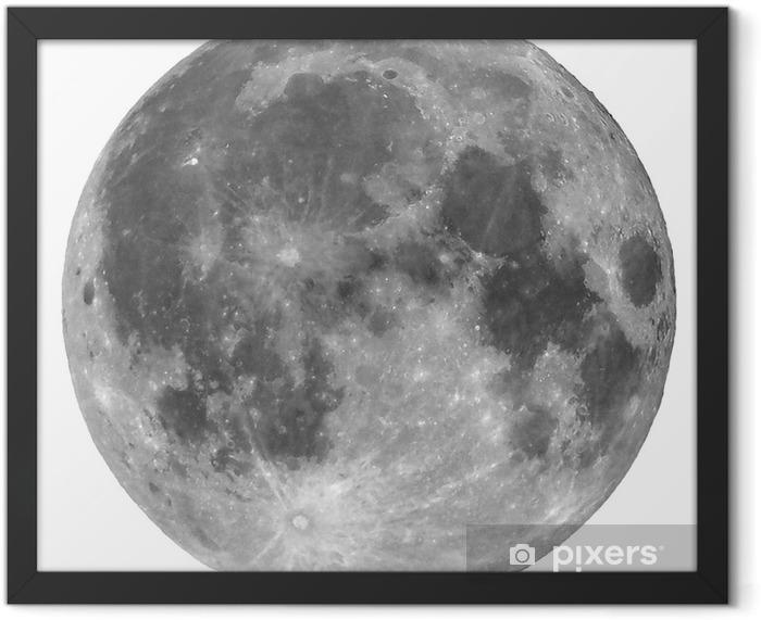 Poster en cadre Pleine lune isolé - Espace