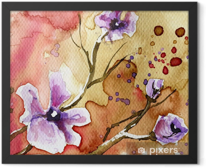 background flowers Framed Poster - Graphic Resources