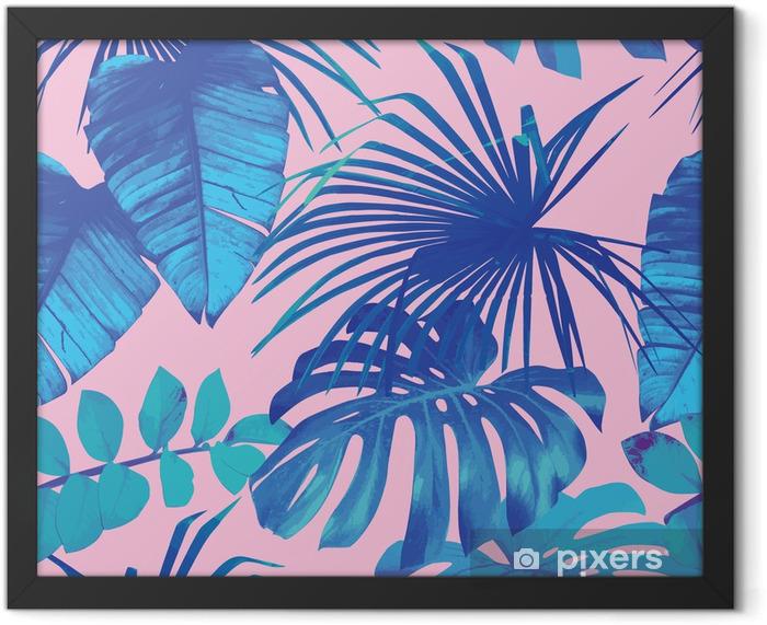 Plakat w ramie Tropikalnych liści bezszwowe tło - Do restauracji