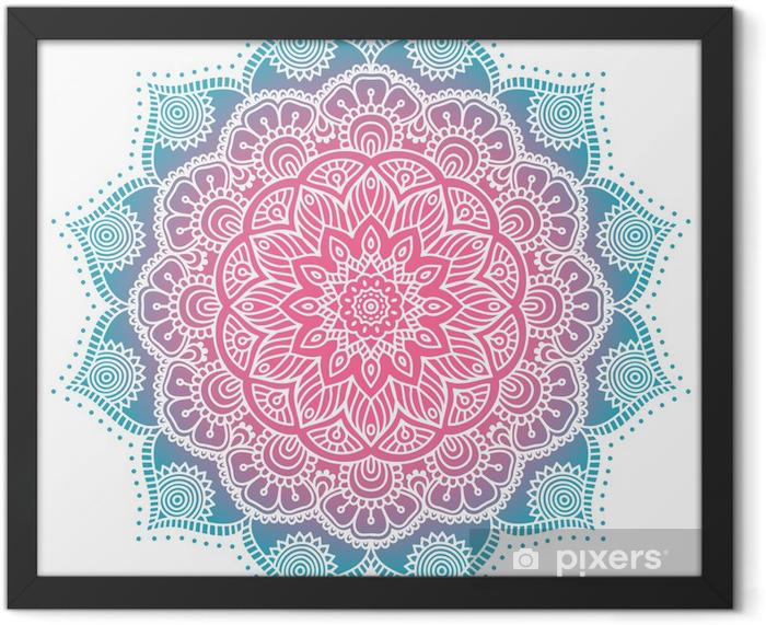 Plakat w ramie Mandala - Tekstury