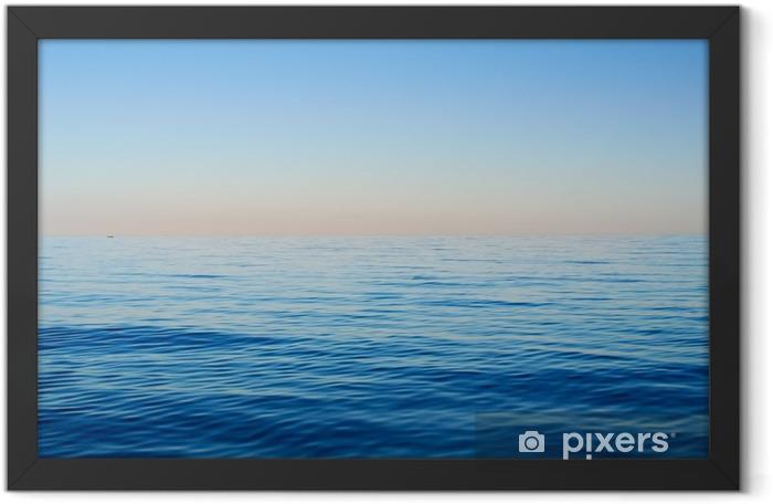 Sea waves on a background of blue sky Framed Poster - Landscapes