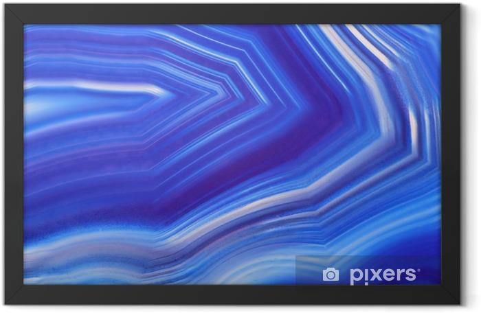Plakat w ramie Jasny niebieski agat zbliżenie tekstury - Zasoby graficzne