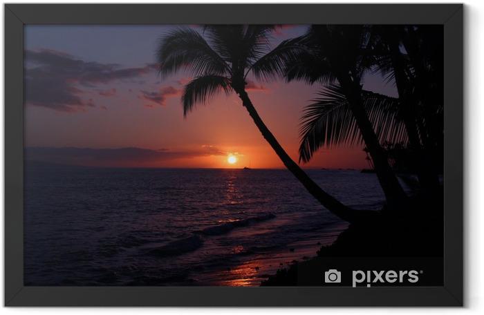 maui sunset Framed Poster - Islands