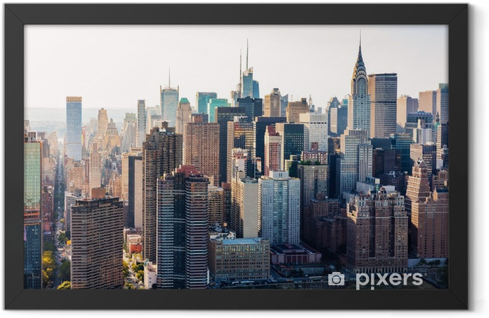 Aerial view of the New York City skyline Framed Poster - Landscapes