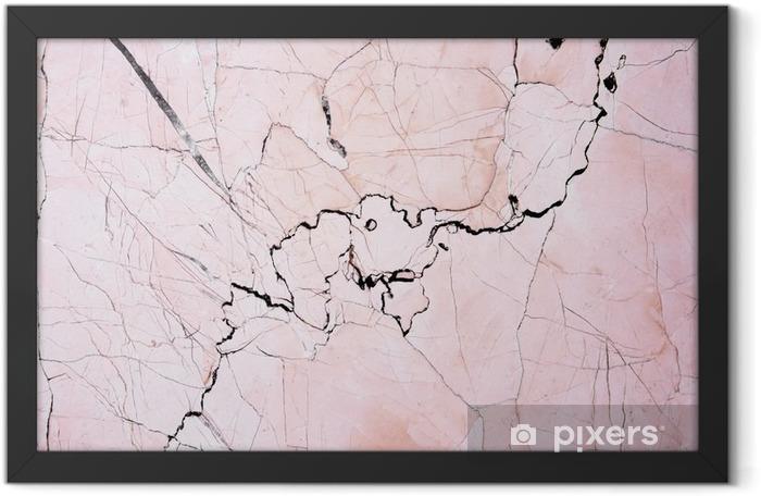 Ingelijste Poster Roze licht marmeren steen textuur background.Beautiful roze marmer - Grafische Bronnen