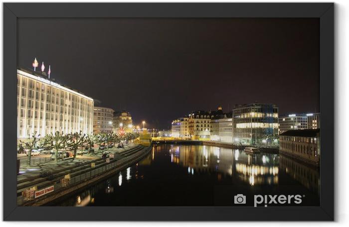 Poster en cadre Genève par nuit - Vacances