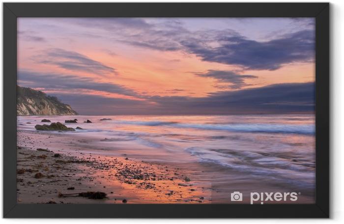 Plakat w ramie Zachód słońca w Santa Barbara - Tematy