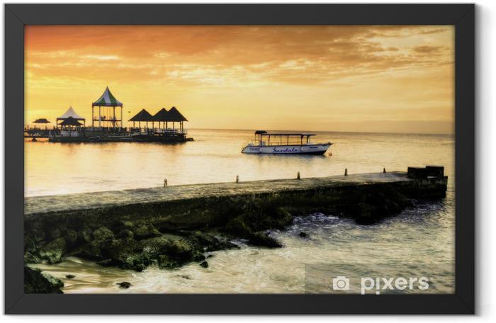 Caribbean Sunset Framed Poster - Themes