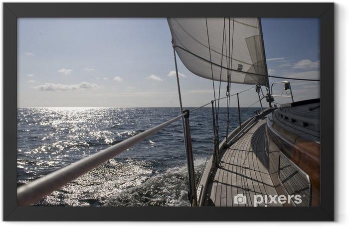 Segelschiff auf See Framed Poster - Water Sports