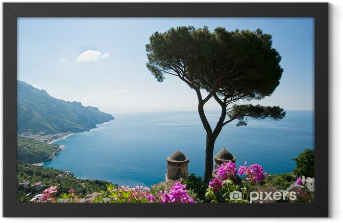 Plakat w ramie Wybrzeże Amalfi Widok - Tematy