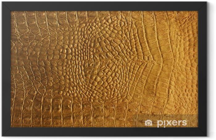 Poster en cadre Peau de serpent ou de crocodile texture de fond - Matières premières