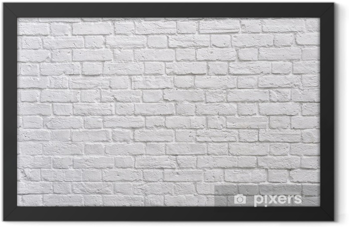 A white brick wall Framed Poster - Themes
