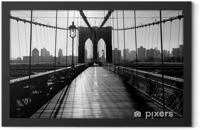 Poster en cadre Pont de Brooklyn, Manhattan, New York City, USA -