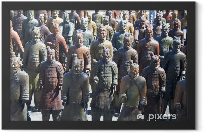 Poster en cadre Une armée chinoise représentée par des statues d'argile - Art et création