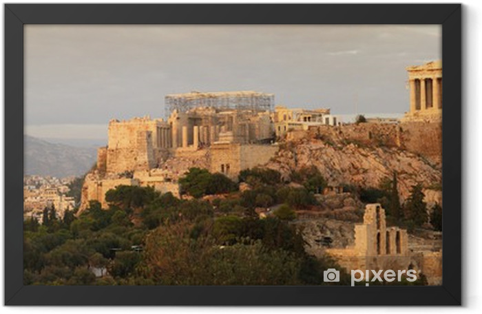 acropolis panoramic view Framed Poster - Themes