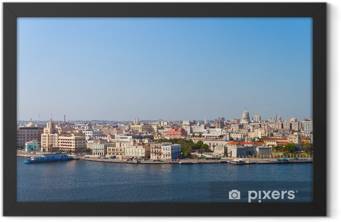 Panoramic view of Old Havana Framed Poster - Themes