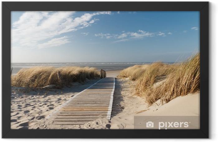 North Sea beach Framed Poster - Sea and ocean
