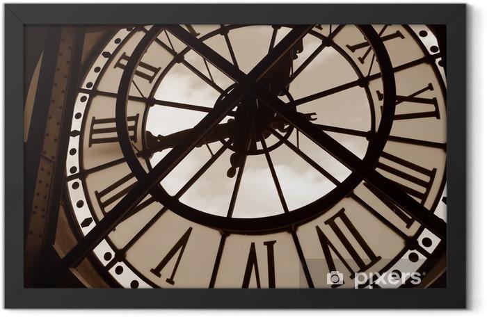 Plakat w ramie Zegar w Muzeum orsay. Paryż, Francja - Zegary