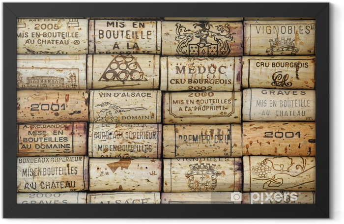 Background of wine corks Framed Poster - iStaging