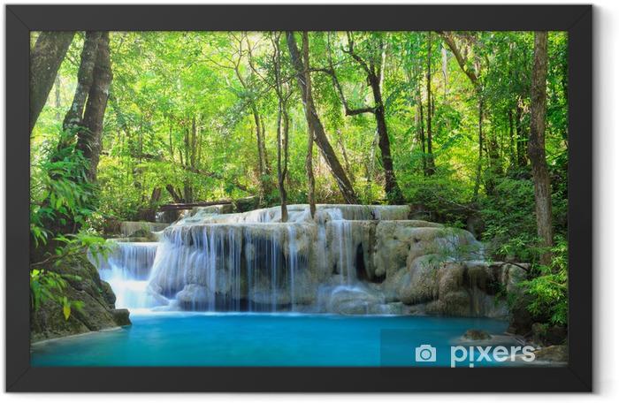 Plakat w ramie Erawan wodospad, Kanchanaburi, Tajlandia - Tematy