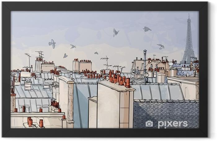 Plakat w ramie Paris france - dachy -