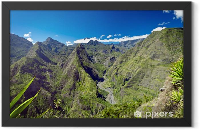 Montagnes du cirque de Mafate - Ile de La Réunion Framed Poster - Mountains