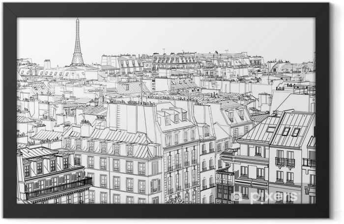 roofs in Paris Framed Poster - Styles